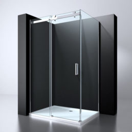 Best Design Erico-Rechthoek cabine schuifdeur & wand 120 x 90 cm 8 mm Nano