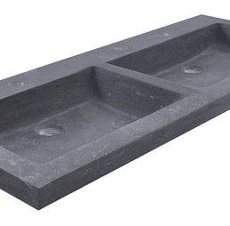 B-stone dubbele wastafel 120 x 46 cm