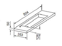 Best Design Slim wastafel voor meubel 80cm (ondiep) 35cm met kraan gat