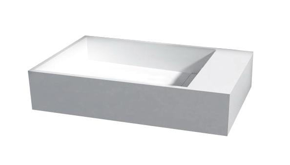 Best Design Arty-Rechts fontein Just-Solid 36 x 18 cm zonder kraangat