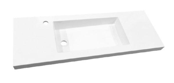 Best Design Slim wastafel voor meubel 120 cm (ondiep) 35 cm met kraan gat
