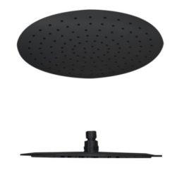 Best Design RVS Nero regendouche rond 30 cm zwart