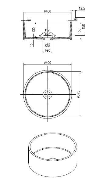 Best Design Knock opbouw-waskom Just-Solid 40 cm