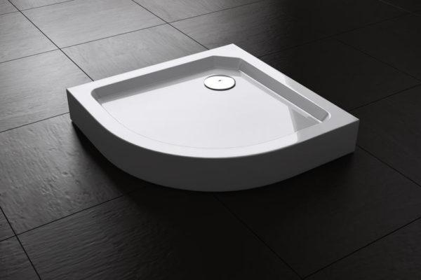 Best Design Project opbouwdouchebak 1/4-Rond 80 x 80 x 14 cm