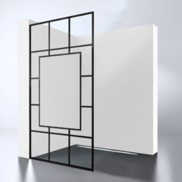 Best Design Black-Invisible inloopdouche Walk-In 100 cm - 10mm NANO glas