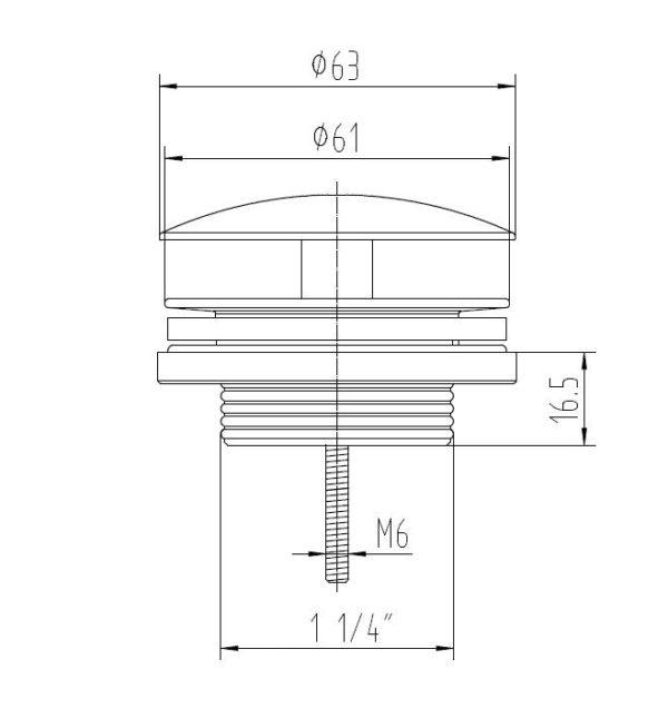 Best Design White Low fontein afvoer plug mat-wit