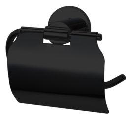 Best Design Nero toiletrolhouder met klep mat-zwart