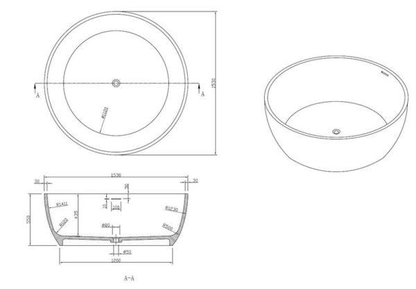 Best Design Cirkel vrijstaand bad