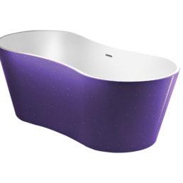 Best Design Color-Purplecub vrijstaand bad 174 x 77 x 58 cm