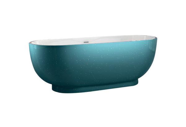 Best Design Color-Turquoise vrijstaand bad 179 x 81 x 61 cm