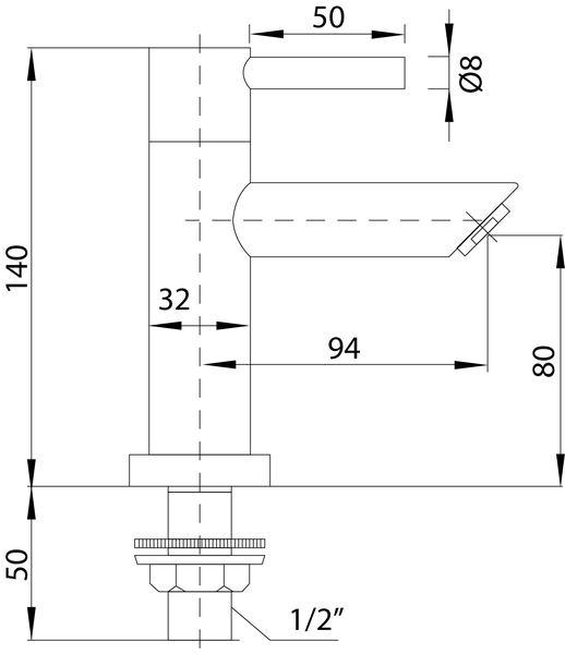 Best Design White toiletkraan mat-wit