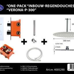 Best Design One-Pack inbouw-regendoucheset Verona 3