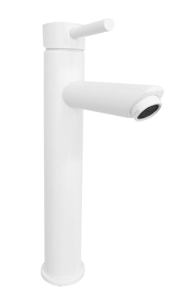 Best Design Motion hoge wastafelmengkraan RVS mat-wit