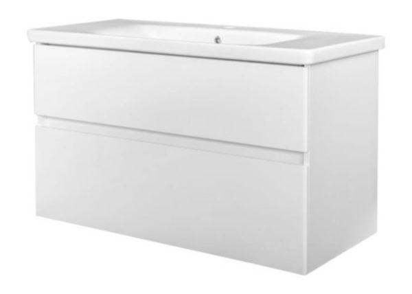 Quick-Greeploos meubel onderkast + wastafel 100 cm glans-wit
