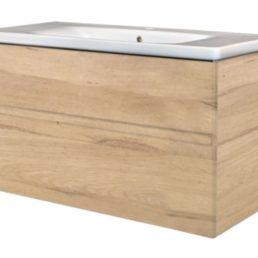 Quick-Greeploos meubel onderkast + wastafel 100 cm oceanic-A