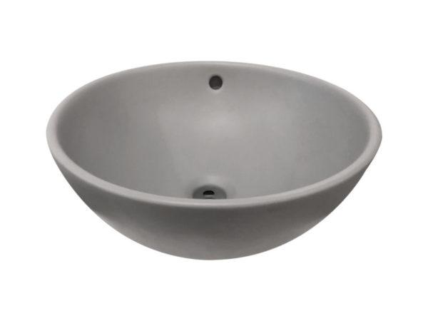 Ancona opbouw-waskom mat-grijs 38 cm
