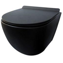 Morrano-Rimfree wandcloset incl.zitting mat-zwart