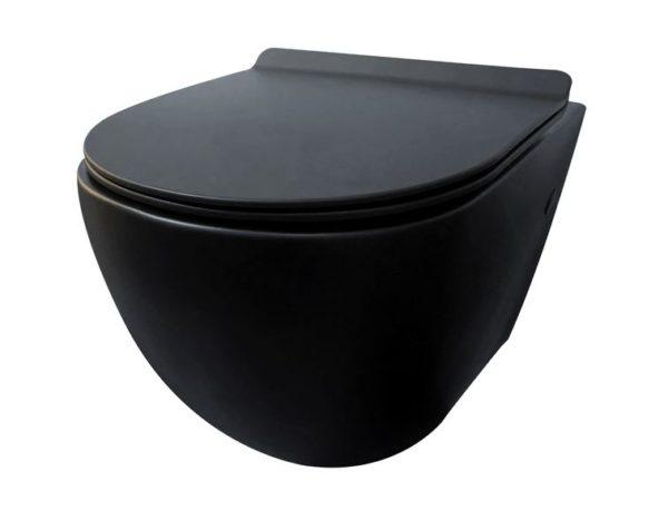 Best Design Morrano-Rimfree wandcloset incl.zitting mat-zwart