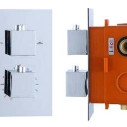 Best Design Piazza inbouwthermostaat 2 weg vierkante knoppen