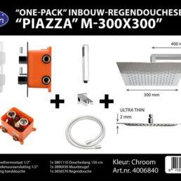 Best Design One pack inbouw-regendoucheset Piazza 3 - Chroom