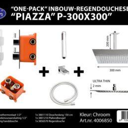 Best Design One pack inbouw-regendoucheset Piazza 1 - Chroom
