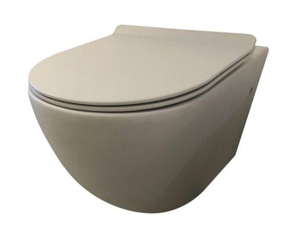 Best Design Morrano-Rimfree wandcloset incl.zitting mat-grijs