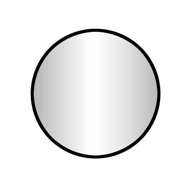 Best Design Goslar-Nero ronde spiegel 100 cm zwart