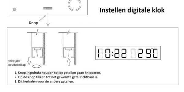 Best Design Spiegel Linet incl.klok & vergroting 80x70cm