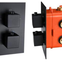 Best Design Stylmo inbouwthermostaat 2-weg vierkante knoppen
