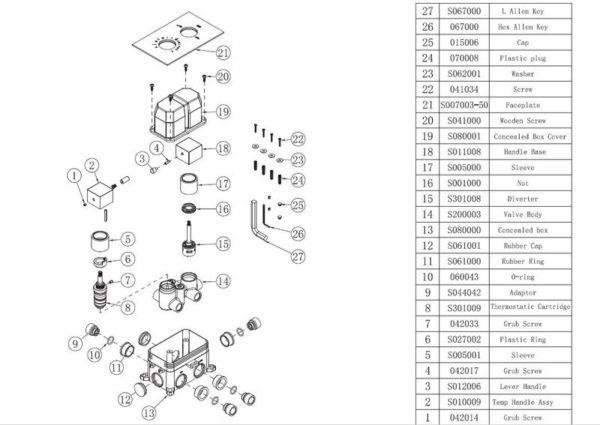 Best Design One-Pack inbouw-regendoucheset Stylmo-Nero - Mat zwart