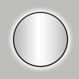 Nero Venetië ronde spiegel zwart incl.led verlichting 80 cm