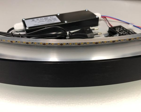 Best Design Nero Venetië ronde spiegel zwart incl.led verlichting 80cm