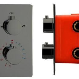 Best Design Moya inbouwthermostaat 2-weg gunmetal