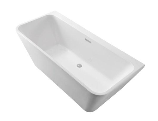 Best Design Silmo Mat-Wit semi vrijstaand wandmodel bad 180x80x60 cm