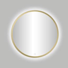Nancy Venetië ronde spiegel Mat-Goud incl.led verlichting 80 cm