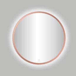 Lyon Venetië ronde spiegel Rose-Mat-Goud 80 cm