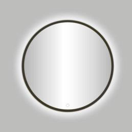 Moya Venetië ronde spiegel Gunmetal incl.led verlichting 60 cm