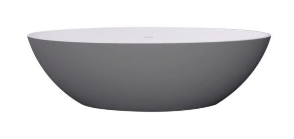 Best Design New-Stone Bicolor-Lava (Grijs)/Wit vrijstaand bad Just-Solid 180 x 85 x 52 cm