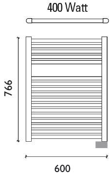 Wiesbaden Elara elektrische radiator 76,6 x 60 cm wit