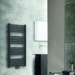 Tower radiator 119 x 60 cm mat zwart