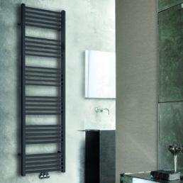 Tower radiator 182 x 60 cm mat zwart