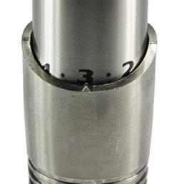 Wiesbaden luxe thermostaatknop M-30 geborsteld staal