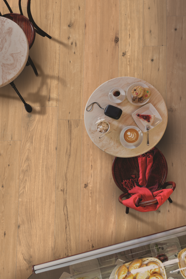 Padouk Beige 30x121 rett vloertegels / wandtegels