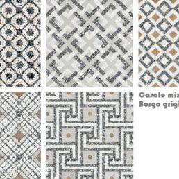 Casale Borgo grigio 25x25 mix vloertegels
