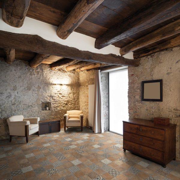 Casale Graniglia cotto 25x25 vloertegels