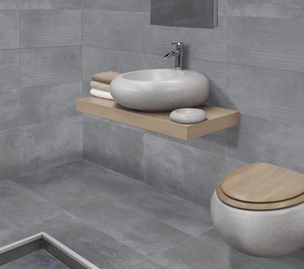 Loft Grey 30,4x61 rett vloertegels / wandtegels