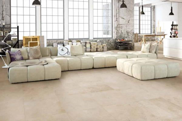 Gravel Cream 60x60 rett vloertegels / wandtegels