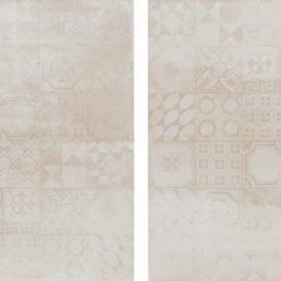 Concrete Avorio Decor 60x60 vloertegels / wandtegels