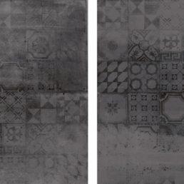 Concrete Antraciet Decor 60x60 vloertegels / wandtegels