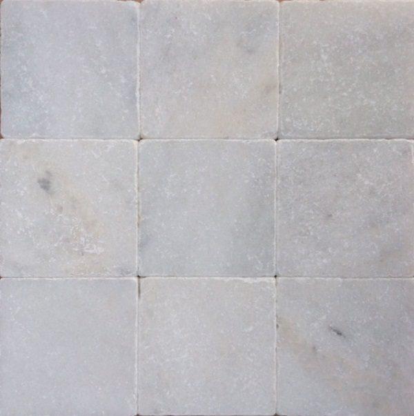 Wit marmer anticato 10x10x1 vloertegels / wandtegels